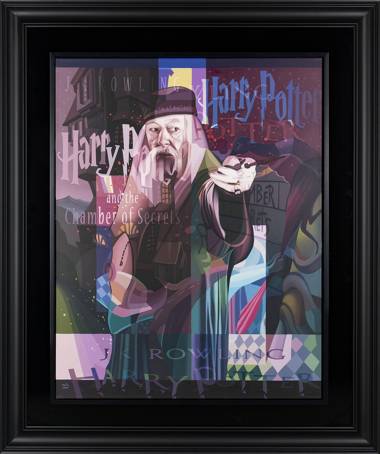 """Professor Dumbledore takes center stage in this painting, called """"The Hand of Wisdom."""" It's an appropriate name considering Dumbledore's character throughout the series."""