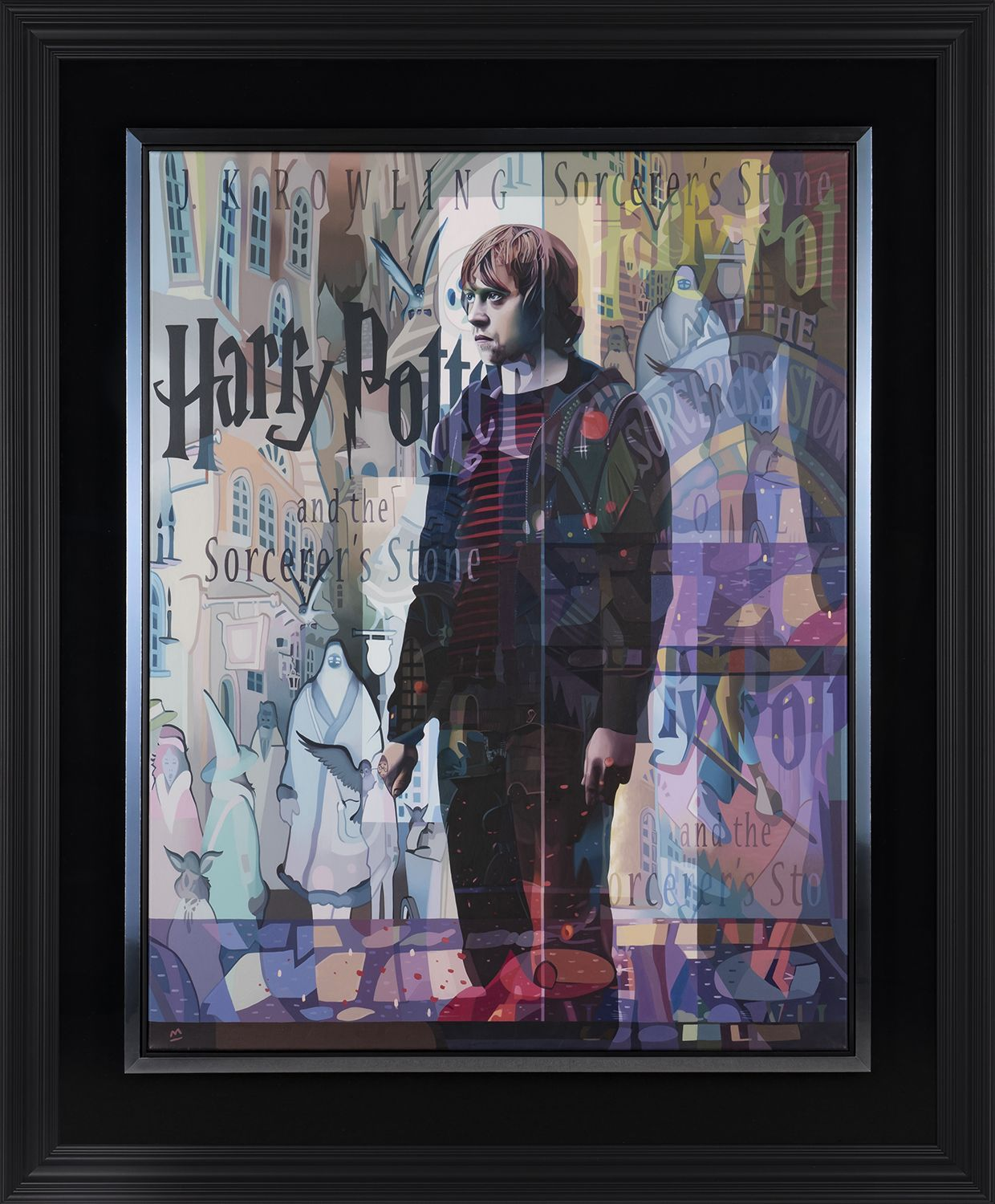 """A lifelike rendition of Rupert Grint as a very tired and battle-worn Ron Weasley is the subject of """"Where the Darkness Resides."""""""
